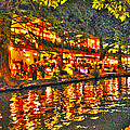 Night Life By The River Walk by John Dauer