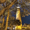 Night Lighthouse by Debra and Dave Vanderlaan