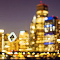 Night Lights - Abstract Chicago Skyline by Melanie Alexandra Price