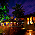Night Lights At The Resort by Jenny Rainbow