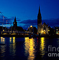 Night Lights In Inverness by Riccardo Mottola