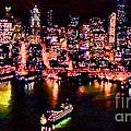 Night Lite Seattle by RJ Aguilar