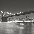 Night - New York City - Brooklyn Bridge by Vivienne Gucwa