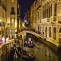 Night On The Canal - Venice - Italy by Madeline Ellis