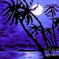 Night On The Islands Painterly Brushstrokes by Barbara Griffin