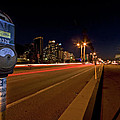 Night Parking Meter by Peter Tellone