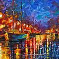 Night Port by Leonid Afremov