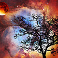 Night Sky Landscape Art By Sharon Cummings by Sharon Cummings