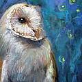 Night Snow Owl by Jieming Wang