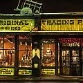 Night Time Trading Post In Santa Fe New Mexico by Dave Dilli