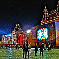 Night View Of Gum-former State Department Store-in Red Square In Moscow-russia by Ruth Hager