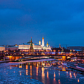 Night View Of Moscow Kremlin In Wintertime - Featured 3 by Alexander Senin