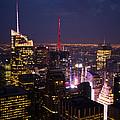Night View Of New York by Hakon Soreide