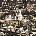 Night View Over St Pauls by Jasna Buncic