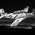 Night Vision Beechcraft T-34 Mentor Military Training Airplane by Jack Pumphrey