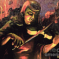 Nightclub Violinist - 1940s by Art By Tolpo Collection