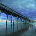 Nightfall At The Pier by Lori Deiter