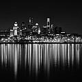 Nightfall In Philly B/w by Jennifer Ancker