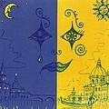 Nightime And Daytime In Venice by Margaryta Yermolayeva