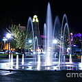 Nighttime At Chico City Plaza by Abram House