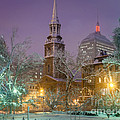 Nighttime Snowstorm In Boston by Susan Cole Kelly