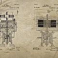 Nikola Tesla's Electrical Generator Patent 1894 by Paulette B Wright