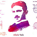 Nikola Tesla Patent Art Apparatus For Aerial Transportation  by Justyna JBJart