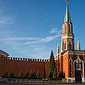 Nikolskaya - St. Nicholas - Tower Of The Kremlin by Alexander Senin