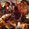 Nilpferdjagd by Peter Paul Rubens