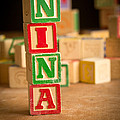 Nina - Alphabet Blocks by Edward Fielding