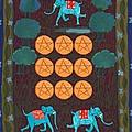 Nine Of Pentacles by Sushila Burgess