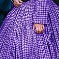 Ninetenth Century Woman In Purple by Stephanie Frey