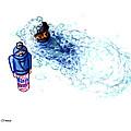 Ninja Stealth Disappears Into Bubble Bath by Del Gaizo
