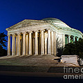 Nite At The Jefferson Memorial by Nick Zelinsky