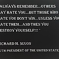 Nixon Quote In Negative by Rob Hans