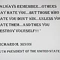 Nixon Quote  by Rob Hans