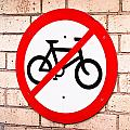 No Cycling by Tom Gowanlock