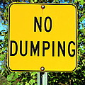 No Dumping Sign by Valentino Visentini