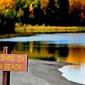 No Fishing I by Kathy Sampson