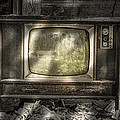No One's Watching - Vintage Television In An Old Barn by Gary Heller