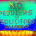 No Peddlers Or Solicitors by Ed Weidman