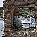 Vintage Boat Framed In Nature Of Minorca Island - Hide And Seek by Pedro Cardona Llambias