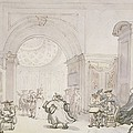 No.0613 The West Room And The Dome Room by Thomas Rowlandson