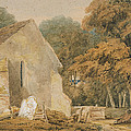 No.0735 A Country Churchyard, C.1797-98 by Thomas Girtin