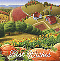 No10 Best Wishes Greeting Card  by Walt Curlee