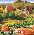 No10 Old Friends Greeting Card  by Walt Curlee