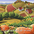 No10 To A Wonderful Friend Greeting Card  by Walt Curlee