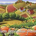 No10 Warm Appalachian Greetings Greeting Card  by Walt Curlee