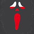 No121 My Scream Minimal Movie Poster by Chungkong Art