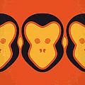 No355 My 12 Monkeys Minimal Movie Poster by Chungkong Art